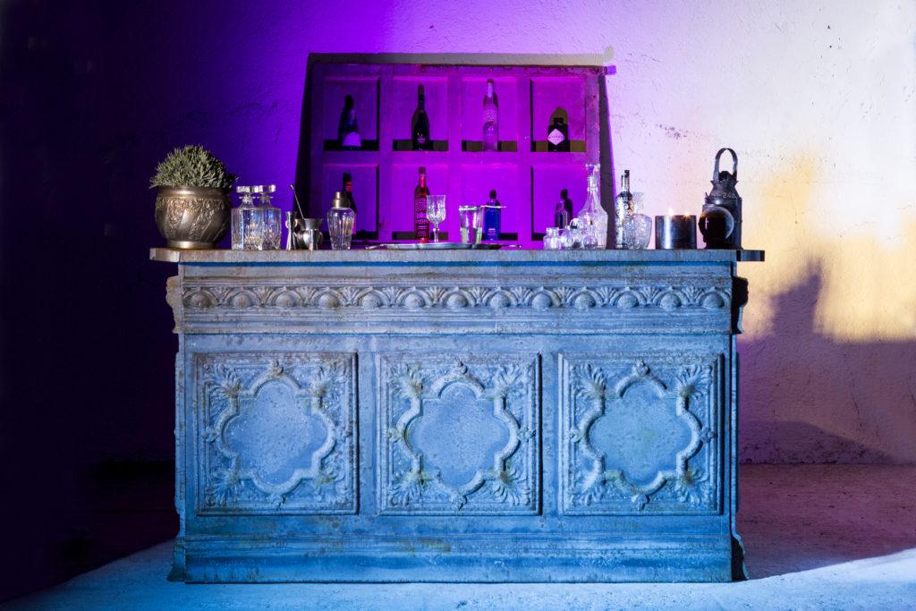 noleggio banconi per open bar matrimoni roma